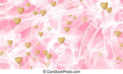 Wedding background, waving white veil on pink background,...