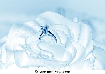 Wedding Background - Wedding background tinted soft blue.