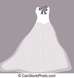 Wedding background with dress