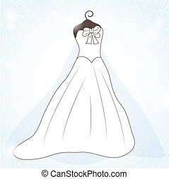Wedding background with dress