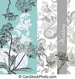 Wedding background with orchids