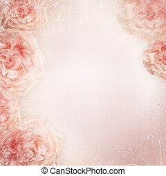 wedding background with roses