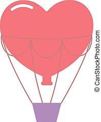 Wedding balloons romantic travel vector illustration.