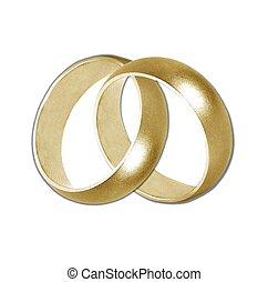 wedding bands gold