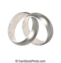 wedding bands silver