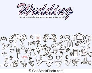 Wedding banner vector illustration