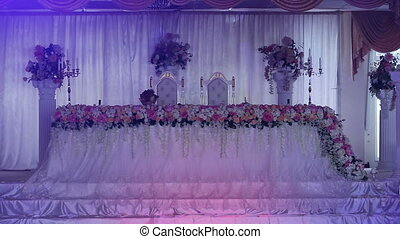 Wedding banquet hall. - Banquet luxurious hall for wedding...