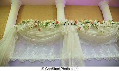 Wedding banquet hall interior.