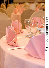 Wedding banquet table details - Details of a chinese wedding...