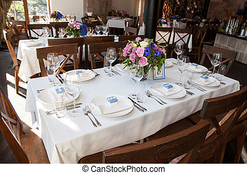 banquet table - wedding banquet table with flower decoration