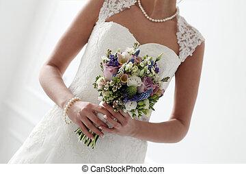 wedding., beau, mariée