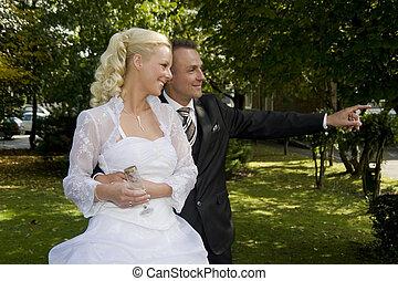wedding - beautiful bride and bride groom