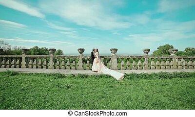 Wedding Beautiful Couple in Castle