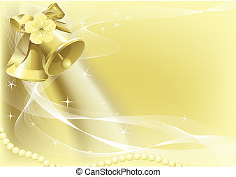 Illustrations of beautiful Wedding Bell Background