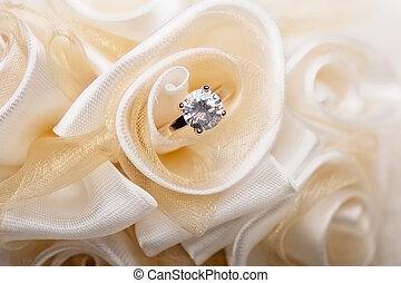 wedding, bevorzugungen, und, ring