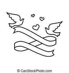 wedding birds romantic card