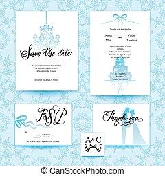 Wedding blue card