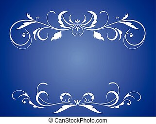 Blue Background Wedding Invitation Card Vector Illustration