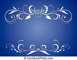 Romantic Wedding Card Blue Flower Background Decoration