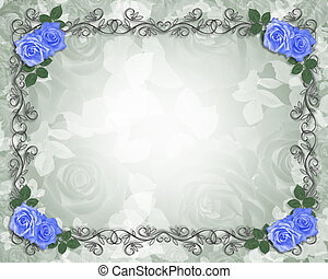 Wedding Blue roses border