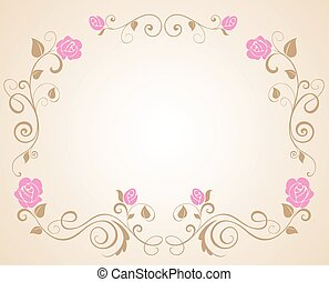Wedding border with rose