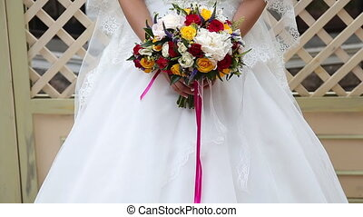 Wedding bouqet - wedding theme, the bride and groom are in...