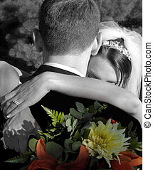 wedding bouquet 1365 - black and white color manipiulation...