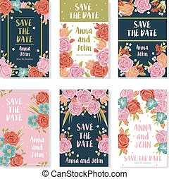 Wedding Bouquet Banners - Wedding invitation banners with...