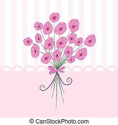Wedding Bouquet design - Wedding Invitation card design with...