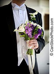 Wedding bouquet flower arrangement