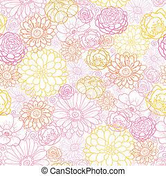 Wedding bouquet flowers seamless pattern background - Vector...