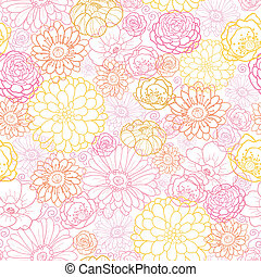 Wedding bouquet flowers seamless pattern background - Vector...