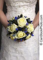 wedding bouquet held by a bride