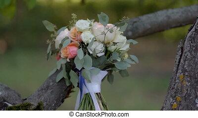 wedding bouquet in the Park
