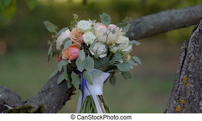 wedding bouquet in the Park