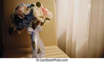 Wedding bouquet near the window