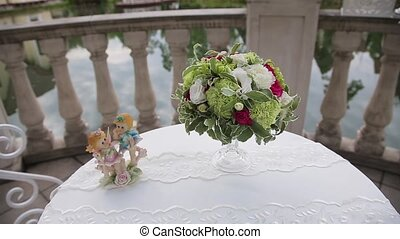 Wedding bouquet of the bride . - Wedding bouquet of the...
