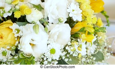 Wedding bouquet or arch for your celebration. Close up