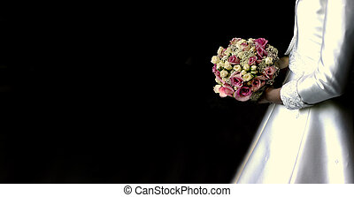 Wedding bouquet - Bride holding her wedding bouquet