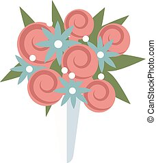 Wedding bouquet vector illustration. Wedding bouquet...
