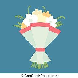 Wedding bouquet vector illustration