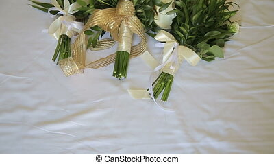 Wedding bouquets on a white background