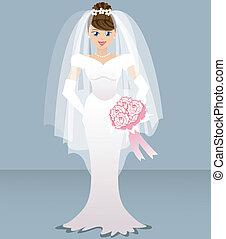wedding, -, braut