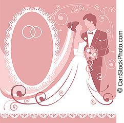 Wedding - Bride and groom. Gentle wedding background....