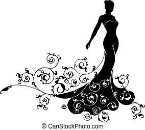 Wedding Bride Silhouette Design - Wedding bride wife in...