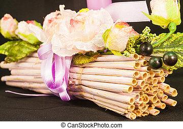 Wedding bunch of sticks