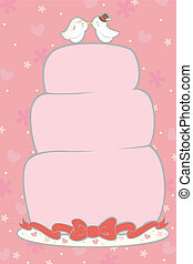Wedding cake - A vector illustration of a wedding cake