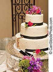 Wedding Cake After First Slice - The wedding cake after the...