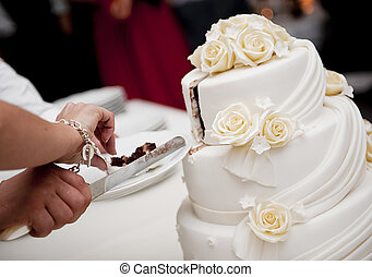 Wedding cake - Beautiful and tasty wedding cake at wedding...