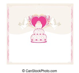 wedding cake card design